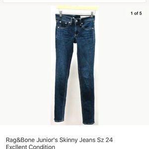Rag and bone jeans size 24 great condition